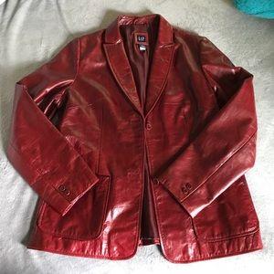 Gorgeous Vintage Oxblood GAP Leather Blazer